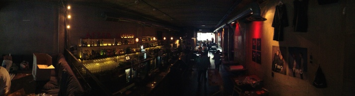 Panoramic of the bar