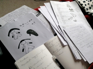 My notes and sketches for my animations on the 2014 Pokémon VGC - Yes I illustrate my team stats sheets