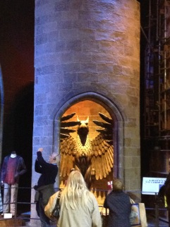 The entrance to Dumbledore's office.