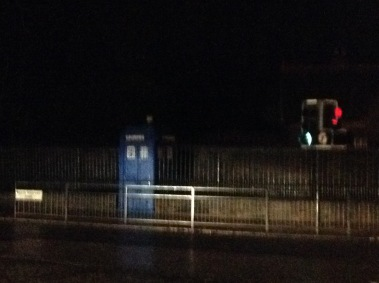 There were police boxes all over Glasgow. Whether legitimate leftovers or Dr Who references I have no idea.