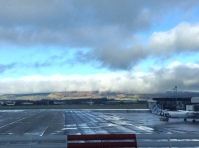 View from the airport.