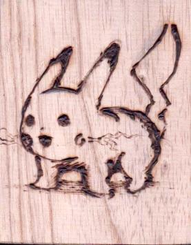 Pyrography Pikachu